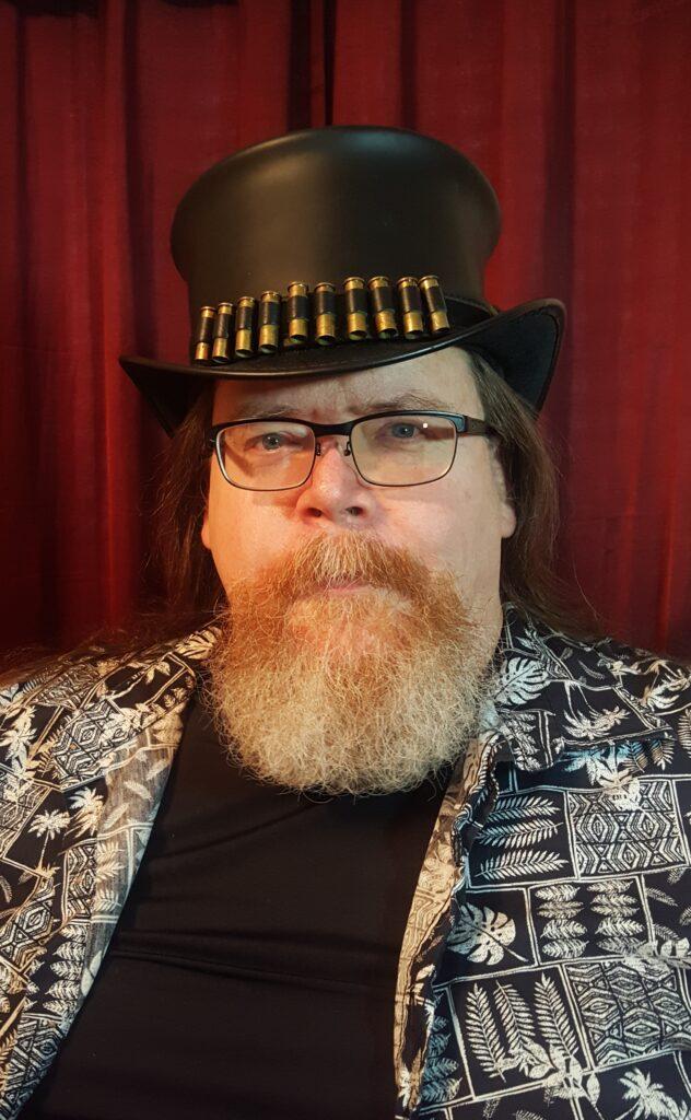 Photo of James Mahaffey... and hat.